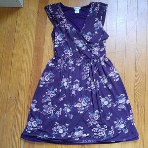 Modcloth Purple Floral Mini Dress